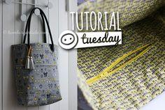 Tutorial Tuesday – wie man eine Reißverschluss-Innentasche in eine Tasche einnäht