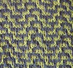 Labyrinth knitting stitch