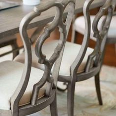 These gorgeous chairs now in stock! Brown Interiors showroom is full of dining room options! Come check it out #browninteriors #pearlandtx #furniture #shop #diningroom #interiordesign #getideas