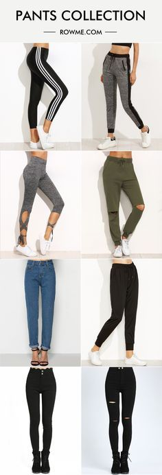 There are lots of comfortable pants with soft material and low price.  Find more new arrivals at romwe.com