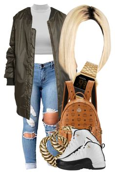 """""""12 13 16"""" by miizz-starburst ❤ liked on Polyvore featuring Nixon, MCM, H&M and Retrò"""