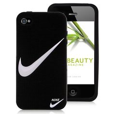 """Nike Logo Silicone Case Cover for iPhone 4 and iPhone - """"Just Do It"""" - Protect your iPhone 4 and against scratches, bumps, dirt or any other damages with this multipurpose Nike Logo Silicone Case Cover. The case fits perfectly to your Iphone 4 Iphone 4 Cases, Iphone 6 Plus Case, Iphone 4s, Sports Brand Logos, Sports Brands, Sports Logo, Phone Accesories, Cell Phone Accessories, Cheap Iphones"""