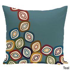 E by Design 18 x 18-inch Falling Leaves Geometric Print Pillow