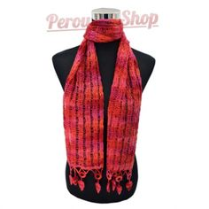 Echarpe peruvienne multicolore en laine d alpaga. www.perou-shop.com ... 79beecd6038