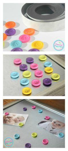 DIY Button Magnet Craft and fun Educational Toy for kids.