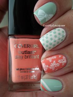 Each nail a different design but with an over-arching theme throughout, I like it.