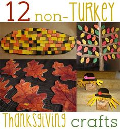 Don't forget about Thanksgiving! But forget the turkey! 12 crafts that are non-turkey but still fun Thanksgiving crafts for kids to make! Thanksgiving Preschool, Thanksgiving Crafts For Kids, Crafts For Kids To Make, Fall Crafts, Holiday Crafts, Holiday Fun, Kids Crafts, Thanksgiving Turkey, November Thanksgiving