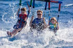 Parasaling in Hawaii - Hitting the water