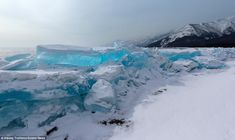 Blue ice: The adventurer drove 500 miles across a sheet of ice using a specially adjusted ...
