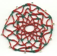 Beaded Ornament Cover: Finish Beaded Ornament Cover