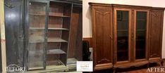 O altă recondiționare prin care am dezvăluit frumusețea mobilei vechi din lemn masiv.😉  De ce să arunci, când poți recondiționa❗️  Apelează cu încredere la noi, calitate garantată 💯  #savemob #restaurare #restauraremobila #reconditionare #bucharest #atelier #beforeandafter China Cabinet, Storage, Furniture, Home Decor, Atelier, Purse Storage, Decoration Home, Chinese Cabinet, Room Decor