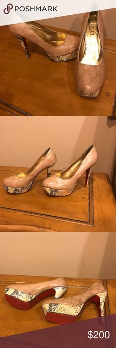 Gucci authentic snake skin sexy pumps Used once Gucci Shoes Heels