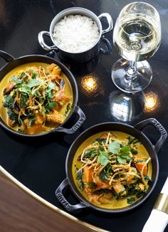 Prawn and pumpkin curry - This impressive prawn and pumpkin curry may look complicated, but once you have all the ingredients prepped it's quite quick to make. Serve with steamed basmati rice and top the curry with crisp fried shallots and fried curry leaves, or fresh coriander