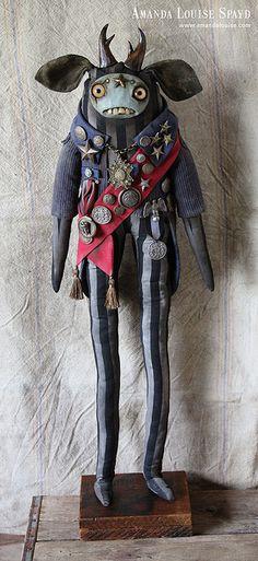 Amanda Louise Spayd & Her Dust Bunnies Clay Dolls, Art Dolls, Weird Toys, Dragons, Marionette, Monster Dolls, Creepy Dolls, Toy Art, Little Monsters