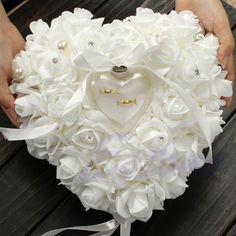 Cheap party supplies, Buy Quality wedding favors directly from China wedding decoration Suppliers: Elegant Rose Wedding Favors Heart Shaped Design Gift Ring Box Pillow Cushion Wedding Decor Party Supplies For Bridge Rose Wedding Rings, Ring Holder Wedding, Wedding Favors, Wedding Ceremony, Wedding Decorations, Wedding Jewelry, Wedding Ring Cushion, Wedding Pillows, Cushion Ring