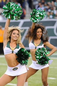 New York Jets cheerleaders perform during the first half of an NFL football game against the Cleveland Browns Sunday, Dec. 22, 2013, in East Rutherford, N.J.