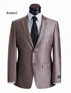 Armani fancy suits for men Business 2 Button 2 Piece Suit Sorrel