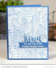 Wave Coloring Book Background, Kind Words Stamp Set, Kind & Kindness Die-namics, Stitched Sentiment Strips Die-namics - Lisa Johnson  #mftstamps
