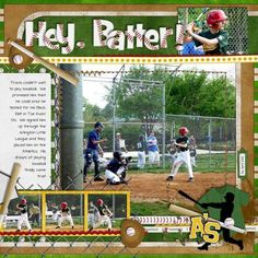 Great baseball page !!!by Quilty Mom  Love the Alpha by Chelle's creations