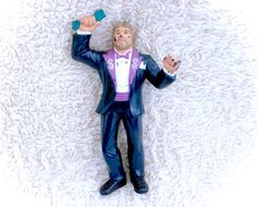 Vintage 1988 WWF LJN Rubber wrestler figure Million Dollar Man! In good vintage condition with some minor marks/smudges and/or paint rubs! A decent display wrestler!  Please see all pictures up close for a thorough representation of the item! I have TONS more cute vintage items for sale in my Etsy shop - check it out for SUPER CHEAP combined shipping discounts. ;) I ship WORLDWIDE from a clean, pet & smoke-free home! Please note that shipping times will be slower OUTSIDE of the US & Canada…