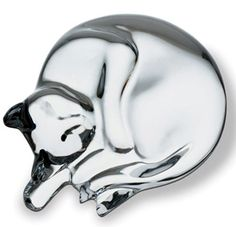 Baccarat Crystal Sleeping Cat figurine
