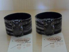 Bracelete couro coruja Bracelet