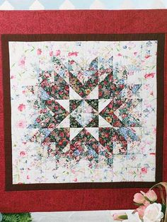 ♡ ISN'T THIS GORGEOUS???!!!  I HAVE ALWAYS WANTED TO DO A WATERCOLOR QUILT....BUT I MUST LEARN HOW,  FIRST!! =)  ♥A  //|               Quilting - Wall Quilts - Floral Starburst Quilt