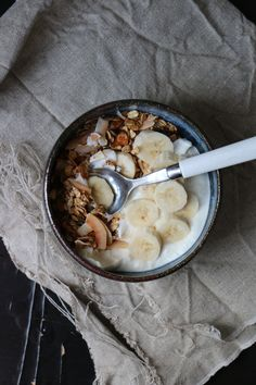 Simple Homemade Granola. Honey, oats, sunflower seeds, almonds, pumpkin seeds, cinnamon, coconut. Add More Butter blog