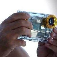 Seashell Waterproof Photo Housing Underwater Case for iPhone 5 - Yellow