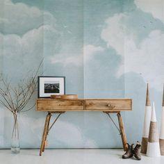 Wallpaper Sky, Temporary Wallpaper, Watercolor Wallpaper, Wallpaper Samples, Adhesive Wallpaper, Adhesive Vinyl, Office Wallpaper, Nursery Wallpaper, Wallpaper Ideas