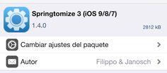 Springtomize 3 para iOS 9 ya está disponible en Cydia - http://www.actualidadiphone.com/springtomize-3-para-ios-9-ya-esta-disponible-en-cydia/