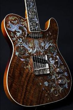 Fender Birdflower Telecaster Master built by Yuriy Shishkov  $45000.000 MusicStore. ARE U FUCKIN' JOKING.....45.000.00.....JEBUS H CHRIST......