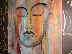 beautiful budha by SILKARTBYKAT on Etsy, €90.00