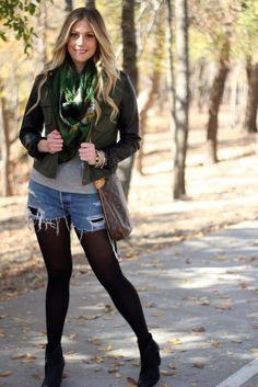 black tights make winter shorts