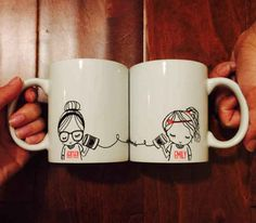 Or this set of mugs perfect for a cup of tea and a FaceTime date.