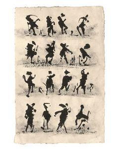 Henri Michaux, Œuvres sur papier des années 50 aux années 70 Exposition du 18 Septembre au 31 Octobre Galerie Antoine Laurentin, 23 Quai Voltaire, Paris 7°  Composition circa 1959, Encre sur papier Japon signée du monogramme en bas à droite 38,5 x 25 cm