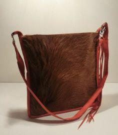 """Cowhair Bag#Purse#Cowhair# KUHIE, Kuhfelltasche """"Mona"""" rot-braun von Gmischtesach:  Die Tasche mit der Kuh !! auf DaWanda.com"""