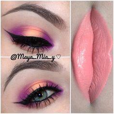 Purple and peach look  @maya_mia_y
