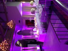 Coral Gables Country Club.All white wedding with amazing uplighting / Events by Francesca/  That's our photobooth in the background.