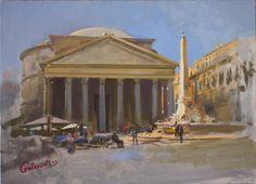 Rome by Bogdan Goloyad 25x35 cm oil on by BogdanGoloyadArt
