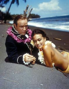 "Marlon Brando & Tarita Teriipia "" Mutiny on the Bounty "", 1962"