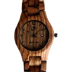 Zebra Wood Handmade Wooden Wrist Watch with by TheDustySaw on Etsy