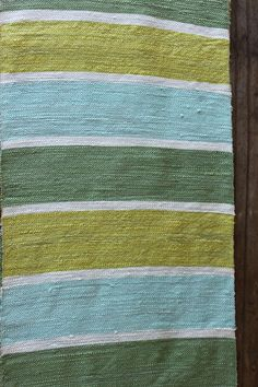 Green and Lime stripe silk scarf
