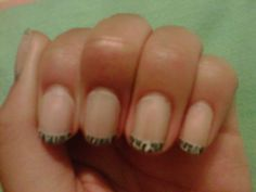 Shattered French Manicure