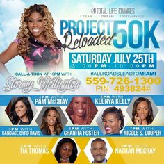 It's a call-a-thon starting at 2 PM CST/3 PM EST!!!! Call every hour on the hour to hear amazing stories of restoration and redemption and how TLC took them to the next level. #tlc #1000families #6figures #tlcpays #project50kreloaded #allroadsleadtomiami. I would love to hear from you after you listen in!! 817-642-7272