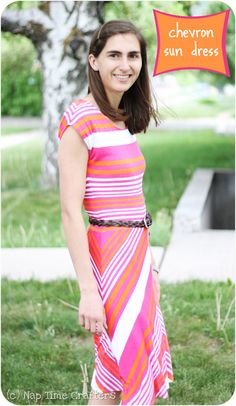 Tutorial: knit Chevron Dress from Nap Time Crafters & Melly Sews