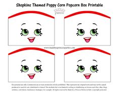 Shopkins Themed Poppy Corn Popcorn Box FREE Printable Made by a Princess