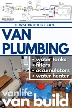 Converting a van can be a steep learning curve as there are so many skills you need to master! This post has been designed to walk you through every step of the process of plumbing a van, from picking the best water tank, to constructing and plumbing a shower (with HOT WATER)! Learn the basics by following simple plumbing diagrams with helpful annotations, there are also in-depth posts to ease you into the more complicated processes. Take the stress out of plumbing with this helpful post! Converted Vans, Flexible Pipe, Rv Mods, Diy Projects Cans, Diy Rv, Cool Campers, Fresh Water Tank, Water Pipes, Red And Grey