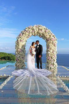 weddings by Diane Khoury Pool Wedding, Bali Wedding, Wedding Groom, Wedding Attire, Bride Groom, Destination Wedding Decor, Luxury Wedding Decor, Exotic Wedding, Wedding Goals