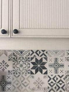 Cement tile shop handmade cement tile checkered black for Carrelage mural carreaux de ciment